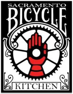 Sac Bike Kitchen Sticker logo